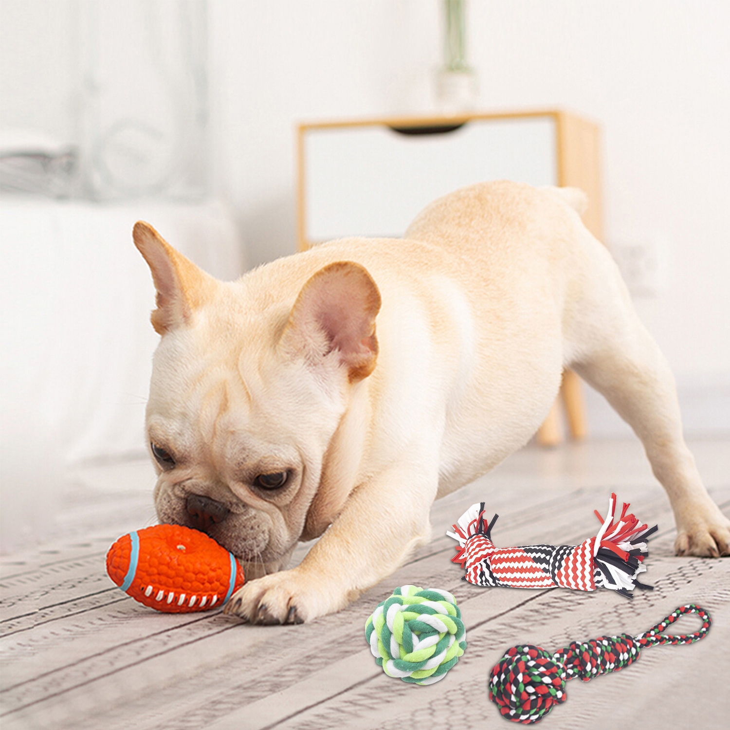 7 Pack Dog Rope Chew Tug Toys, Fun Indoors Outdoors Toys for Small and Medium Dogs Puppy Training Playing Teething Cleaning