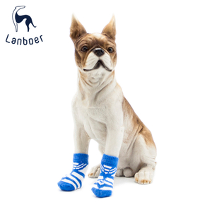 Lanboer Pet Apparel Rubber Dipped Dog Socks